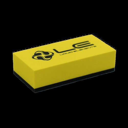Liquid Elements Applikator Block gelb mit Logo 8x4x2cm