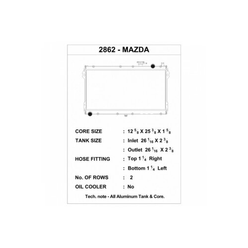 CSF Wasserkühler für Mazda MX-5  / Miata (NA) 1989-1997