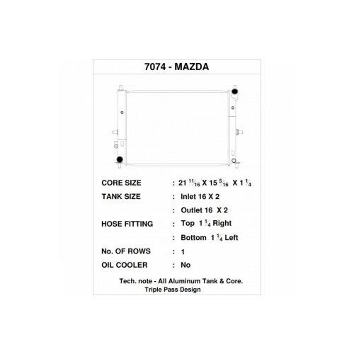 CSF Wasserkühler für Mazda MX-5  / Miata (ND) 2015+
