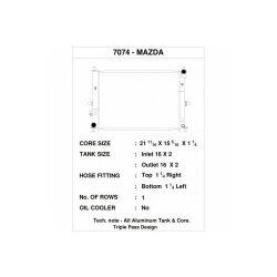 CSF Wasserkühler für Mazda MX-5  / Miata (ND)...