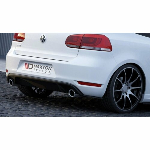 Maxton Design Diffusor Heck Ansatz Flaps VW GOLF 6 GTI 35TH