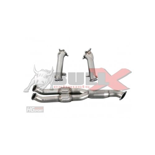 HG-Motorsport BULL-X Downpipes + Frontpipe ohne Kats für NISSAN GTR R35