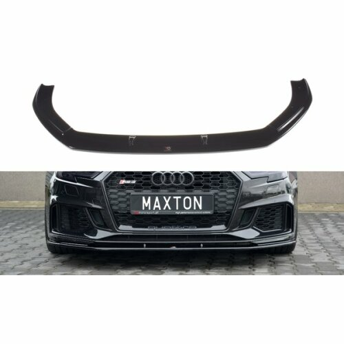 Maxtondesign Cup Spoilerlippe Front Ansatz passend für V.1 AUDI RS3 8V FACELIFT SPORTBACK Carbon Look