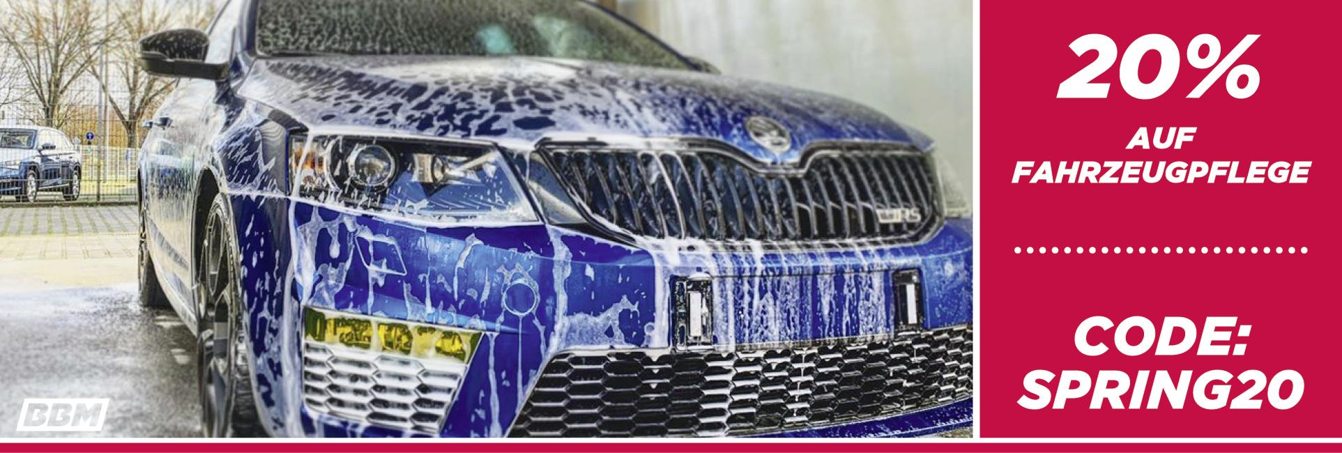 SPARE 20% auf Fahrzeugpflege - Code: spring20 , JETZT Rabatt sichern!