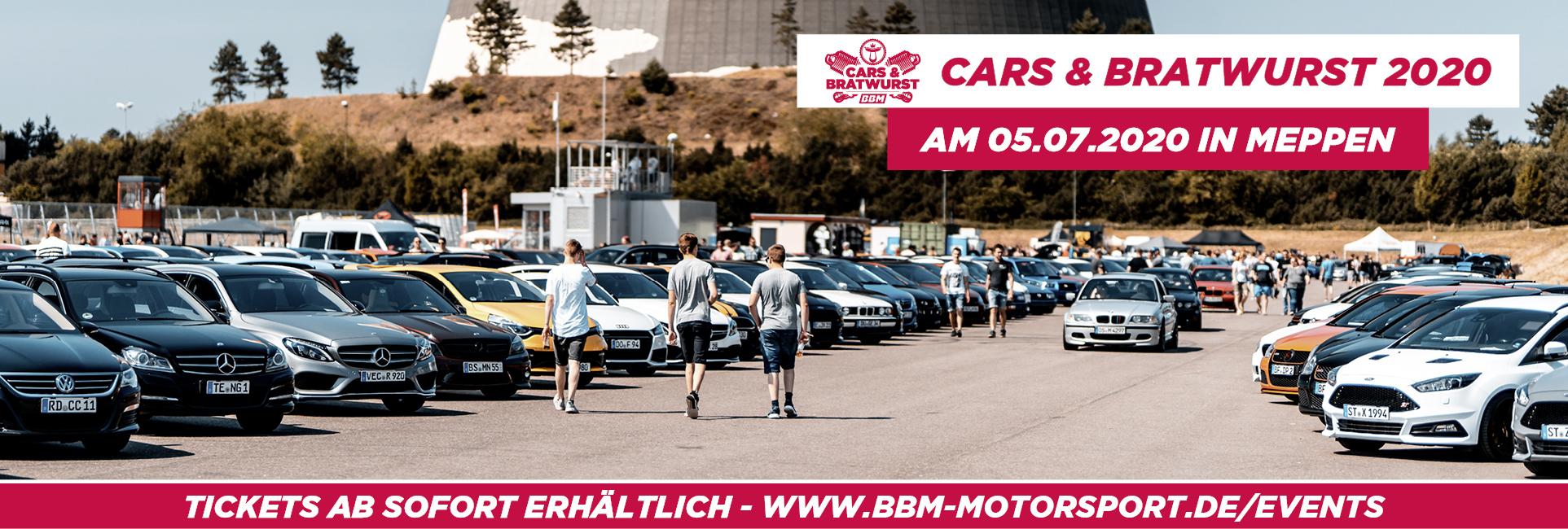 Cars & Bratwurst 2020 am 05.07.20 , JETZT Ticket sichern!